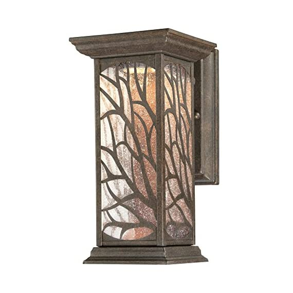 Westinghouse 6312000 Glenwillow One-Light LED, Victorian Bronze Finish with Clear Seeded Glass Outdoor Wall Fixture - Energy-saving, one-light outdoor wall lantern complements a variety of home styles Outdoor rated fixture, Victorian bronze finish with clear seeded glass Integrated 8.5-watt dimmable LED is equivalent to 1-60-watt incandescent bulb, 2700K-warm white light, no bulbs to replace - patio, outdoor-lights, outdoor-decor - 516J4b0hTcL. SS570  -