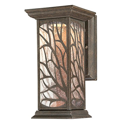 (Westinghouse Lighting 6312000 Glenwillow One-Light LED, Victorian Bronze Finish with Clear Seeded Glass Outdoor Wall Fixture,)