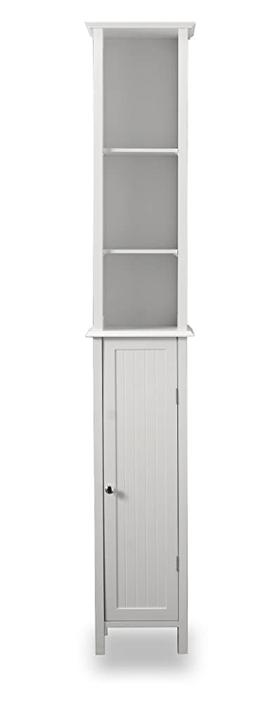 Tall White Shaker Style Bathroom Cabinet (Free standing): Amazon ...
