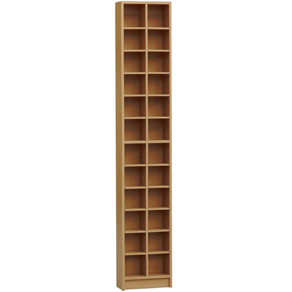 BLOCK   Tall Sleek CD DVD Media Storage Tower Shelves   Oak: Amazon.co.uk:  Kitchen U0026 Home
