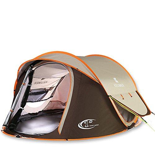 トライアスロンパラダイス建てる3-4人キャンプテントダブルレインとシェードバックパッキングテントアウトドアスポーツのための自動インスタントポップアップテント