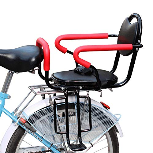 - Bicycle Child Seat Rear with Seat Belt Thickening Four Seasons Universal Baby Seat Suitable for Bicycle Folding Bike Mountain Bike