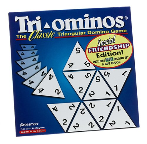 Tri-ominos; the Classic Triangular Domino Game; Special Friendship Edition - Global Priority Mail