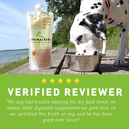 Primalvore Organic Bone Broth for Dogs: Liquid Dog Food Gravy Wet Topper - All Natural Instant Canine Digestion Formula - Best as Hydrating Unsalted Bonebroth Topping to Pour Over Your Pets Kibble 5