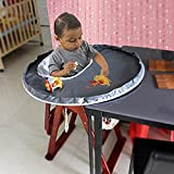 Willcome Restaurant and Home Baby Feeding Saucer High Chair Cover, Highchair Cover Germ Prevents Food and Toys Falling to Floor