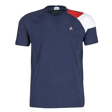 d187f61c98 Amazon.com: Le Coq Sportif Mens Short Sleeve Tricolour T-Shirt: Clothing