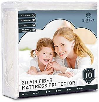 ENITYA Waterproof Air Fabric Breathable Bed Protector