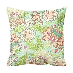 lightinglife Impresión fundas de almohada Funda de cojín de flores 18funda de cojín (18en cuadrado