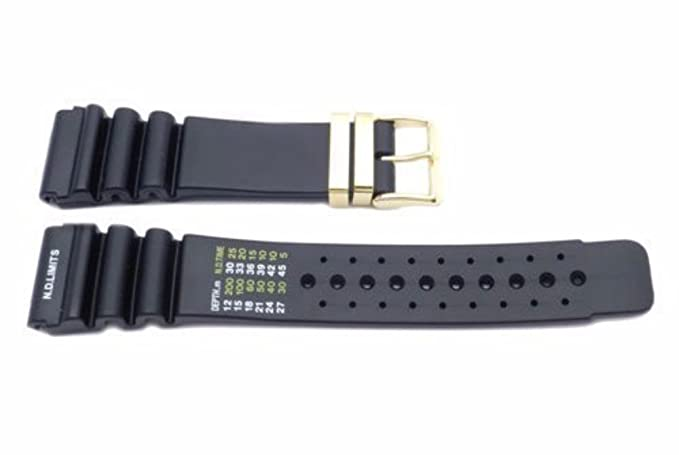 Image Unavailable. Image not available for. Color  24mm Diver Rubber  Plastic Sport Watch Band 48b6a1ce04f