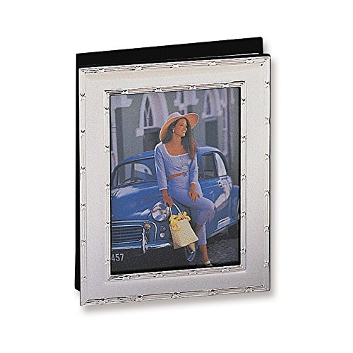 Jewelry Adviser Gifts Silver-plated Reed and Ribbon Holds 36-5x7 Photo Album