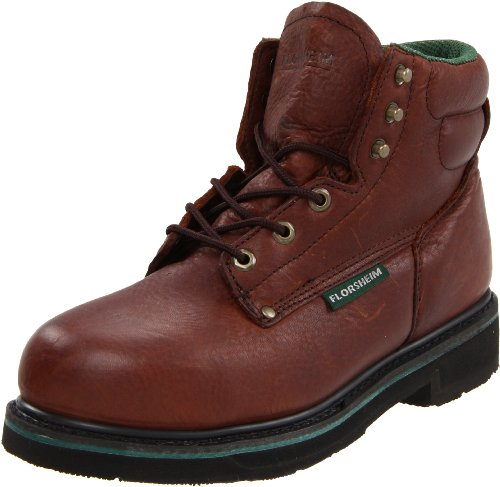 Florsheim Work Men's FE665 Steel-Toed Work Boot,Brown Walnut,10 D (Steel Walnut)