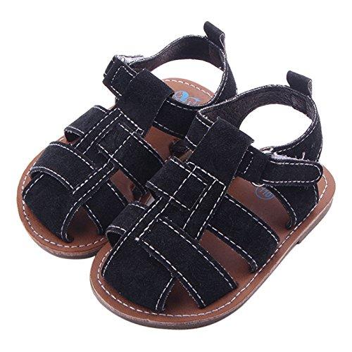 Happy Cherry Unisex Baby Sandalen Rutschfest Lauflernschuhe Sommer Babyschuhe Neugeborene Schuhe für 3-11 Monate