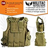 Militac - Delta Tactical Vest - Ideal For Airsoft / Paintball - Avalible In Black, Green, Tan, MTP, ACU (Tan)