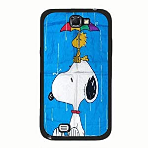 Fresh Cute 3D Peanuts Movie Snoopy Phone Case Cover for Samsung Galaxy Note 2 N7100 New Arrival Shell Case