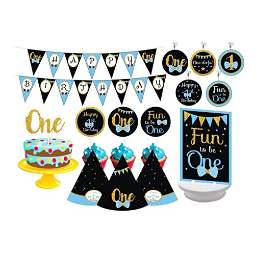 1st Birthday Boy Chalkboard Party For Boys Turning