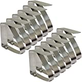 Zicome Set of 12 Adjustable Stainless Steel Table Cloth Clip Clamps for Home Pratry Wedding Banquet Outdoor Picnic