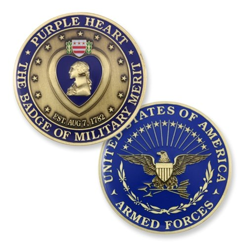 Purple Heart Medal Challenge Coin