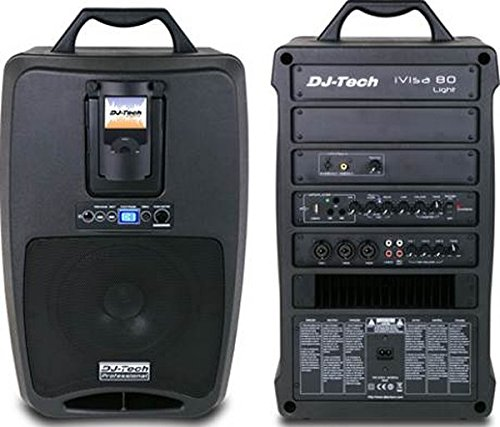 - DJTECH IVISA80LIGHT 80-Watt Amplifier Speaker