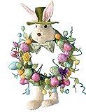 Easter / Spring Bunny Rabbit & Egg Door or Wall Wreath, 26.5 Inches Diameter