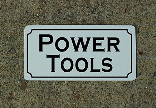 POWER TOOLS Vintage Style Metal Sign Decor
