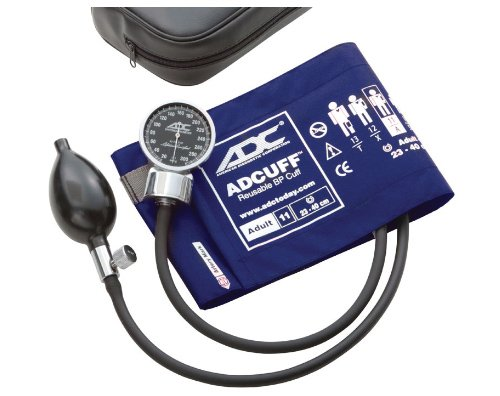 ADC Diagnostix 700 Pocket Aneroid Sphygmomanometer with Adcuff Nylon Blood Pressure Cuff, Adult, Royal Blue