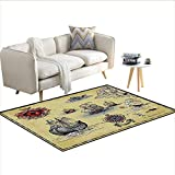 Basic Coffee Table Plans Carpet,Antique Old Plan Discovery Ship Pirate Wave Compass Navigation Geography Theme,Outdoor Rug,Beige Red Grey 40