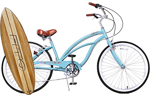 Anti rust light weight aluminum alloy frame Fito Marina alloy 7 speed 26″ wheel mens beach cruiser bike bicycle sky blue For Sale