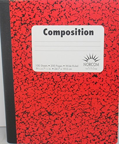 Norcom Composition Notebook Wide Ruled Pack of 2 (Red)