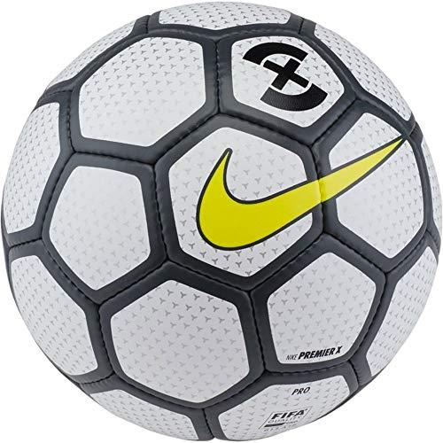 - Nike Premier X Futsal Soccer Ball (White/Anthrocite/Opti Yellow) (Pro)