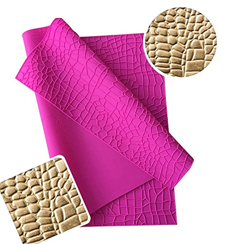 "ART Kitchenware Large Size Crocodile Alligator Impression Mat Embossed Silicone Cake Lace Mat 23.6x 15.75"" Fondant Cake Decorating Tools Gum Paste Molds Cake Molds Pastry Baking Tools BLM-26"