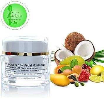 Colágeno Firming Crema Hidratante con Ácido Hialurónico rejuvenecedores Retinol Vitamina C aceite de argán y colágeno marino 30 ml: Amazon.es: Belleza