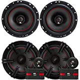 2) MB Quart XK1-116 80 Watt 6.5 Inch Coax + 2) XC1-216 6.5 Component Speakers