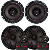 2) MB Quart XK1-116 80 Watt 6.5 Inch Coax + 2) XC1-216 6.5 Component Speakers