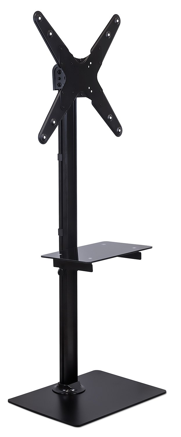 amazoncom mountit led lcd flat panel screen tv floor stand tv  - amazoncom mountit led lcd flat panel screen tv floor stand tv shelfand stand fits  to  inch televisons up to  lbs vesa mount compatibleup to