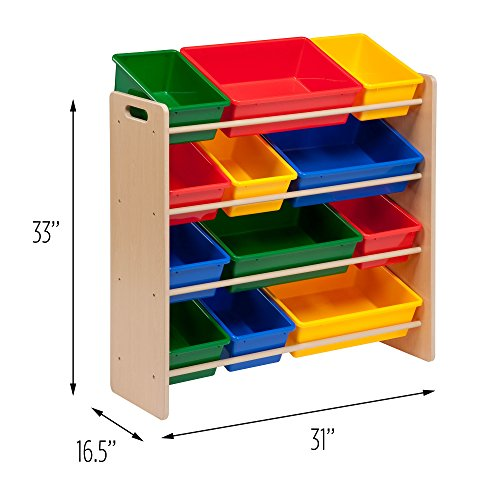 516J8bMaI2L - Honey-Can-Do SRT-01602 Kids Toy Organizer and Storage Bins, Natural/Primary