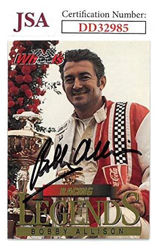 (Bobby Allison signed NASCAR 1994 Wheels Racing Legends Trading Card #LS3- Hologram #DD32985 - JSA Certified)