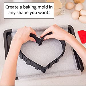 Cake Shapers by MiTBA – Design a Baking Mold in Any Shape You Want! DIY With Our Amazing Non-Stick and Extra Thick…