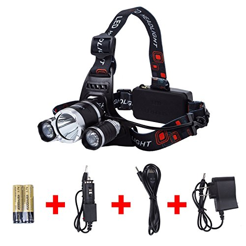 Lightess Rechargeable HeadLamp RJ-5000 with 6500 Lumens