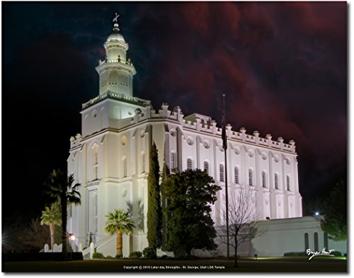 Latter-day Strengths ST. George LDS Temple Stunning at Night - 14