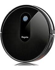 Bagotte Robot Aspirador, Potencia de 1500Pa para un Robot de Limpieza, Ultra Delgado(6,9 cm), Silencioso, Carga Automática y Navegación Para Pelos Largos de Animales, Alfombras, Baldosas, Suelos Duros