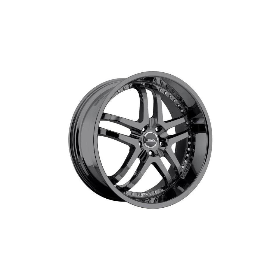 Prado Dante 20 Black Chrome Wheel / Rim 5x4.5 & with a 42mm Offset and a 73.1 Hub Bore. Partnumber 901 20065PB42