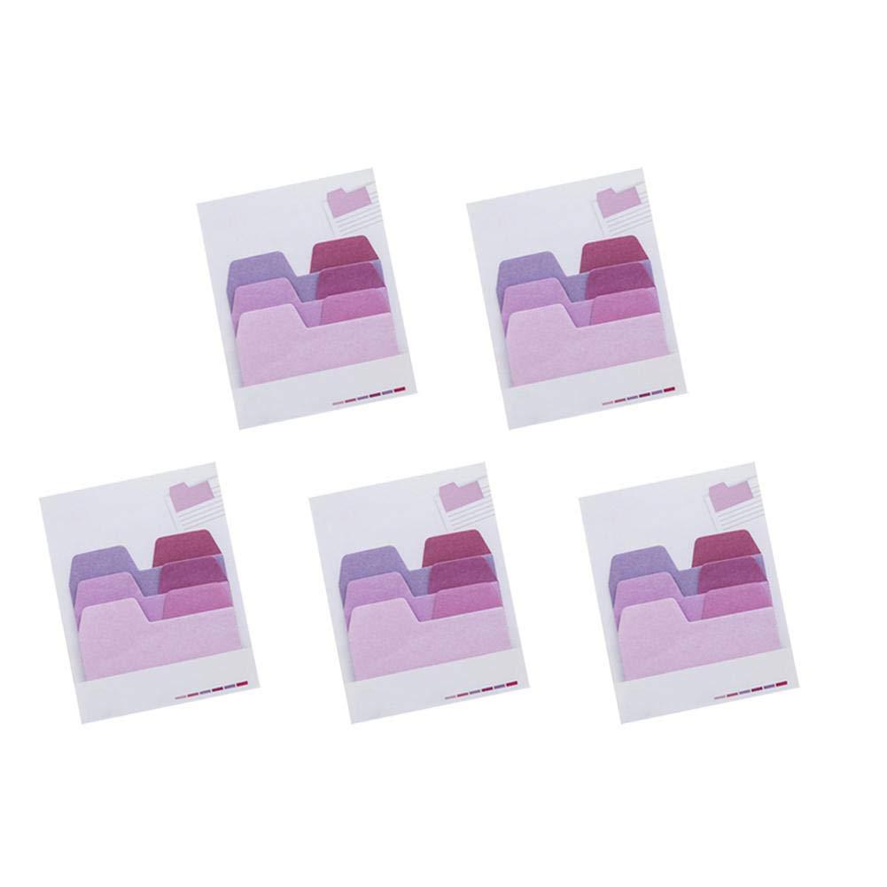 Lubier 5 Pezzi Blocchetti Memo Adesivi Gradiente Di ColoreEfficiente Note Appiccicose autoadesive Rimovibili Super Sticky Tradizionale Confezione Risparmio Foglietti Adesivi