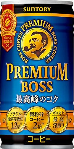 [일본 산토리 보스 캔커피 / SUNTORY BOSS COFFEE] 산토리 커피 프리미엄 보스 185g관×30개