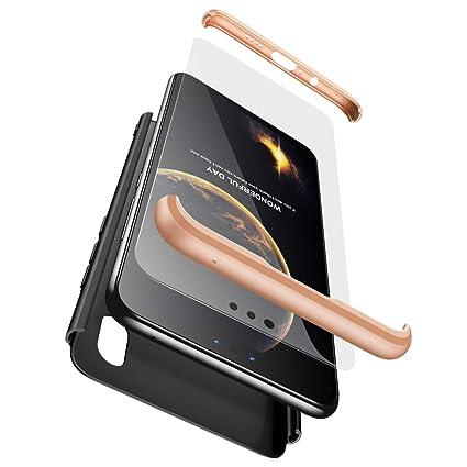 xinyunew Funda Huawei P20 Lite,360 Grados Protección Case + Pantalla de Cristal Templado,3 in 1 Anti-Arañazos Carcasa Case Caso Fundas teléfonos ...