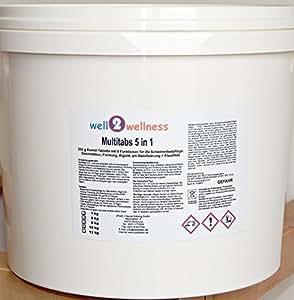 Pastillas de cloro Multitabs 5 en 1 200g - 10 kg - BESTSELLER