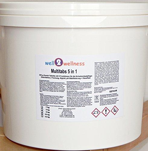 Chlor Multitabs 5in1 200g mit 96% Aktivchlor - 10 kg