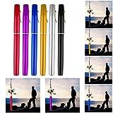 Mini Portable Pocket Fish Pen Shape Aluminum Alloy Fishing Rod Pole Reel Combos Black Review
