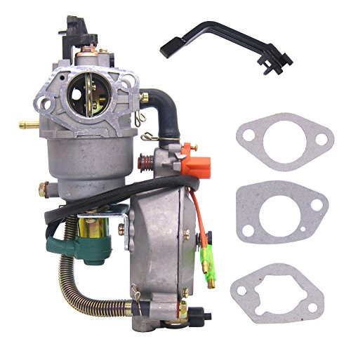 FitBest Dual Fuel Carburetor Carb LPG Conversion kit for Honda GX390 188F 4.5-5.5KW 13-14HP Generator Manual Choke ()