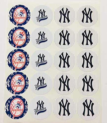 Set of 20 New York Yankees Sticker NY Phone Small Mini Decal Logo Birthday Parties