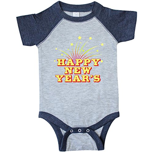 Sparkle Vintage Onesie (Inktastic Unisex Baby Happy New Year's Infant Creeper 12 Months Vintage Heather and)